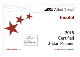 3 Star Partner Allied Telesis - 2015 год