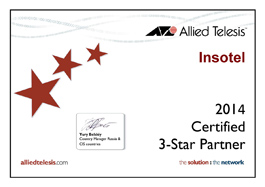 3 Star Partner Allied Telesis - 2014 год