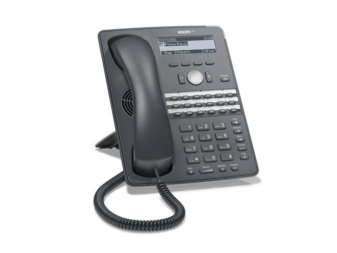 корпоративного класса настольные бюджетные IP телефоны  snom 720