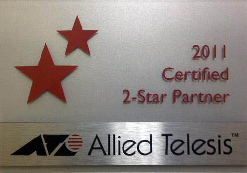 сертификат 2011 2 STAR Partner Allied Telesis.
