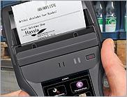 Встроенный принтер способен работать с  различной шириной термопечати.