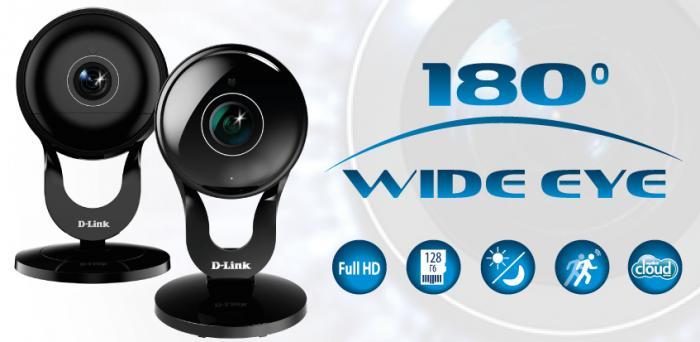 Инсотел: Доступны к заказу Облачные Full HD-камеры D-Link DCS-2530L,DCS-2630L с объективом Wide Eye,обзор 180°
