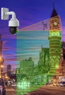 Новаторский дизайн с уникальной геометрией купола IP КАМЕР AXIS Q6115-E, Q6114-E дают уникальную возможность распознавать объекты, находящиеся в зоне до 20° выше уровня горизонта