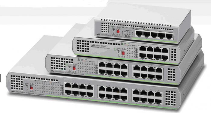 Новая серия Gigabit Ethernet коммутаторов GS910 Allied Telesis