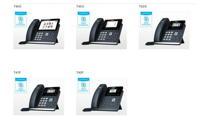 IP-телефоны Yealink для Skype for Business