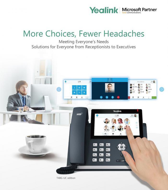 IP телефоны Yealink T48G  и T46G сертифицированы Skype for Business Online Microsoft Office 365