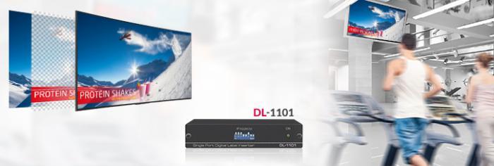 Kramer DL-1101 идеально подходит для добавления любых картинок — логотипов, титров, объявлений, рекламы и информационных сообщений — поверх видео, уже транслируемого на экранах