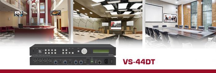 Матричный Коммутатор 4х4 HDMI Kramer VS-44DT с поддержкой HDCP и выходами HDBaseT с PoE для Pro A/V
