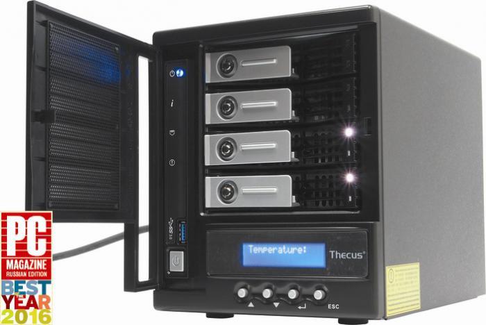Система хранения данных Thecus N4560 признана лучшим сетевым хранилищем для сектора среднего и малого бизнеса