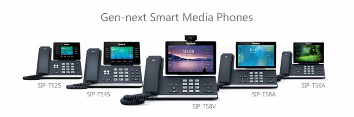 Расширенная линейка Yealink T5 Smart Media Phone