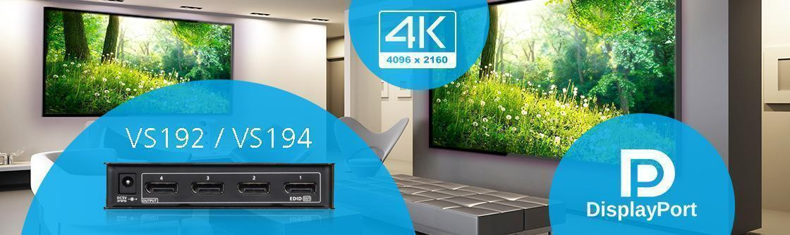 Доступны 4K DisplayPort Видео Сплиттеры ATEN