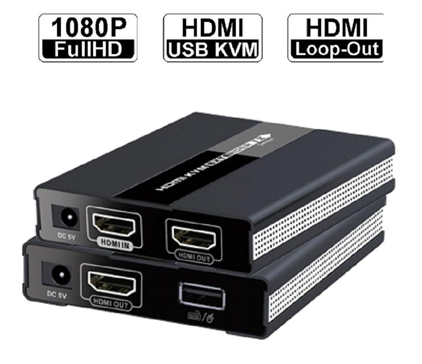 LKV371KVM – HD HDMI USB KVM Extender over CAT с PoC