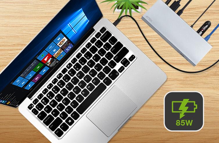 Возможность обеспечения до 85 Вт питания для Mac или Windows ноутбуков