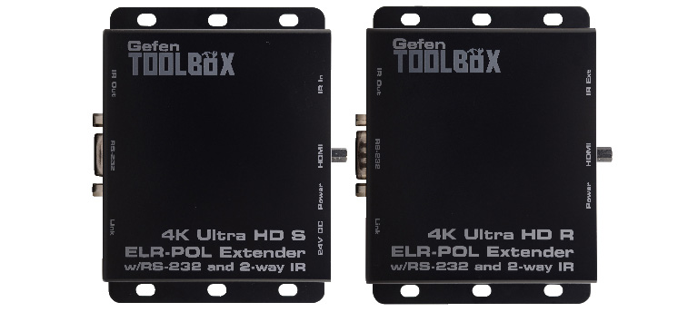 Инсотел. Скидка 10% на комплект Gefen HDMI GTB-UHD2IRS-ELRPOL-BLK для передачи Ultra HD по витой паре HDBaseT