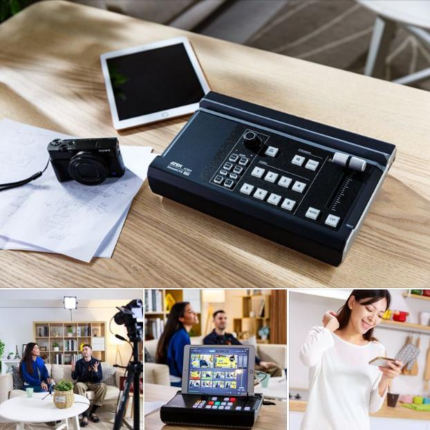 AV Микшер ATEN UC9020 делает простой и доступной трансляцию профессионального уровня в прямом эфире для профессионалов и видео блогеров