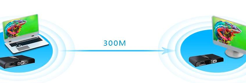 HDMI HDbitT Удлинитель LKV380Pro – Передача сигнала на 300 метров