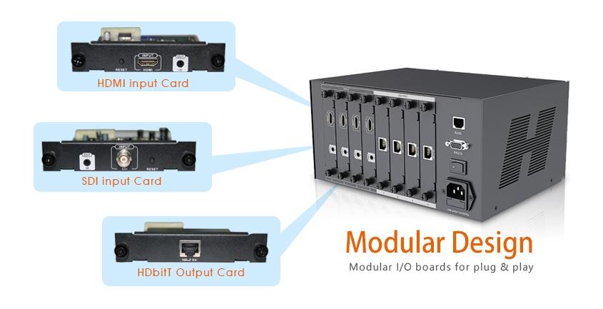 LKV4x4 HDbitT. Подключение AV плат ввода -вывода